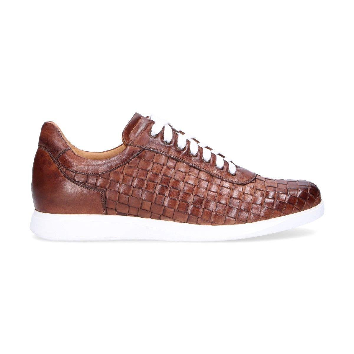 - ARTISTI E ARTIGIANI Men's 7799BROWN Brown Leather Sneakers