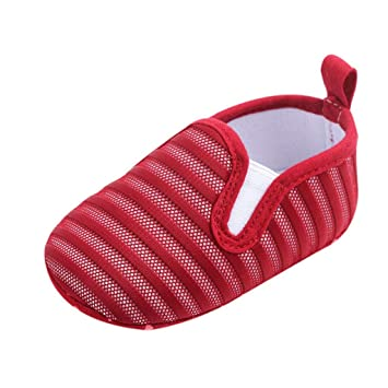 617b001ad35b77 Breathable Baby Mesh Shoes Newborn Baby Boy Girl Candy Color Striped Casual Shoes  Soft Sole Crib
