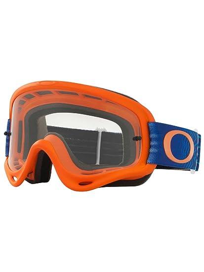 bb82cec119 Oakley O Frame MX Shockwave Org Blue with Clear Unisex-Adult Goggles  (Orange