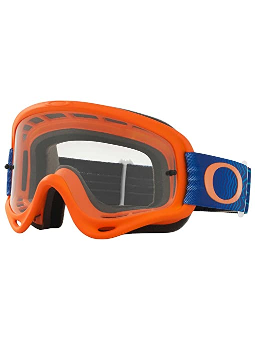 318b12c123 Amazon.com  Oakley O-Frame MX Shockwave Men s Dirt Off-Road Motorcycle  Goggles Eyewear - Orange Blue Clear   One Size Fits All  Automotive