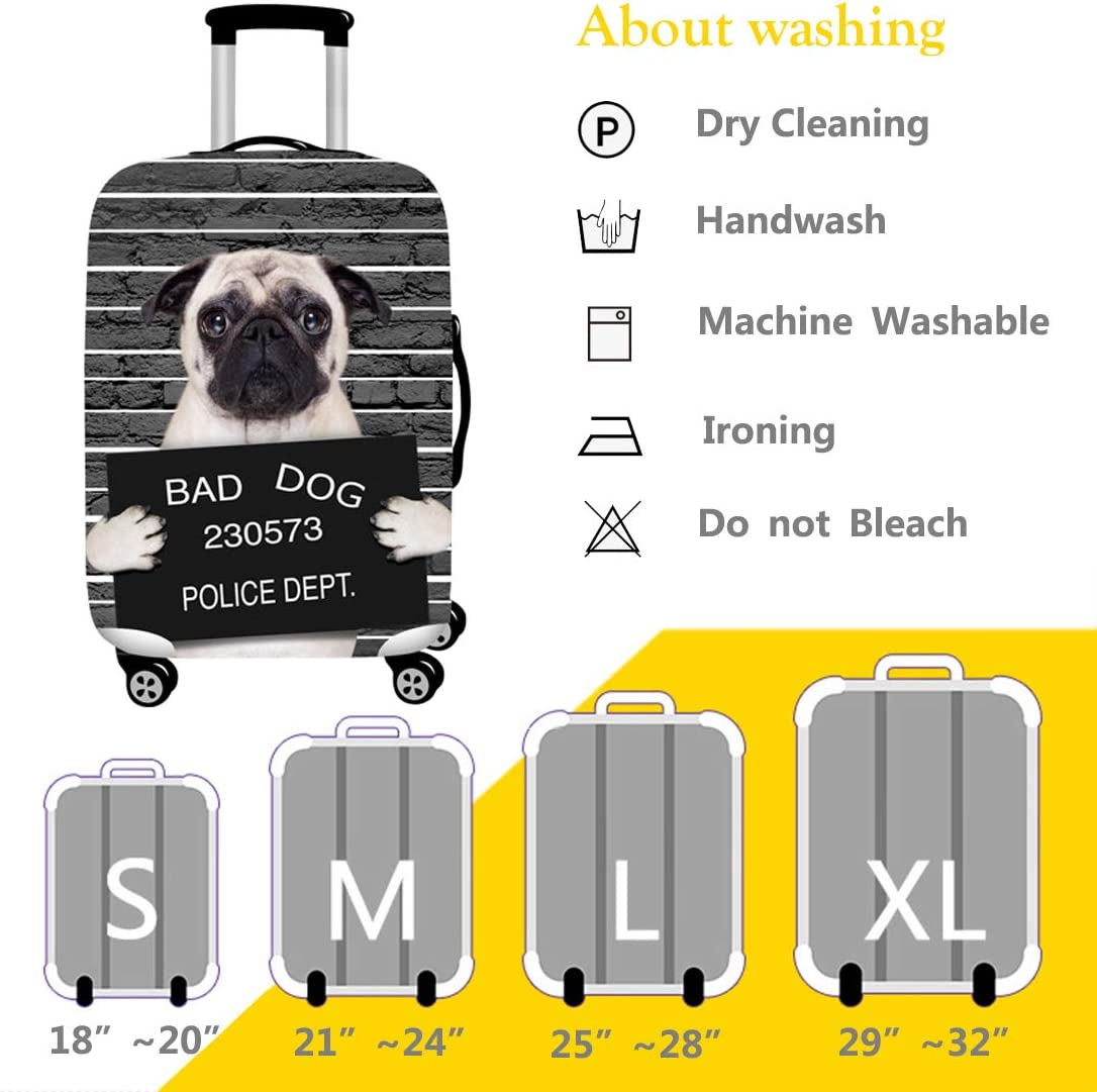 , Bad Dog 29-32luggage XL TAPE FIVE Washable Travel Luggage Cover Thickened Luggage Cover 18//24//28//32 Inch Suitcase Spandex Protective Cover