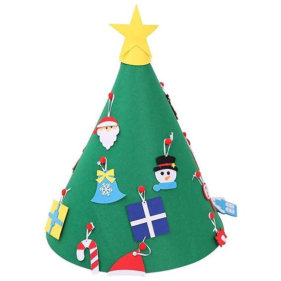 Wawer Diy Filz Weihnachtsbaum 50cmx70cm Grün Weihnachtsbaum