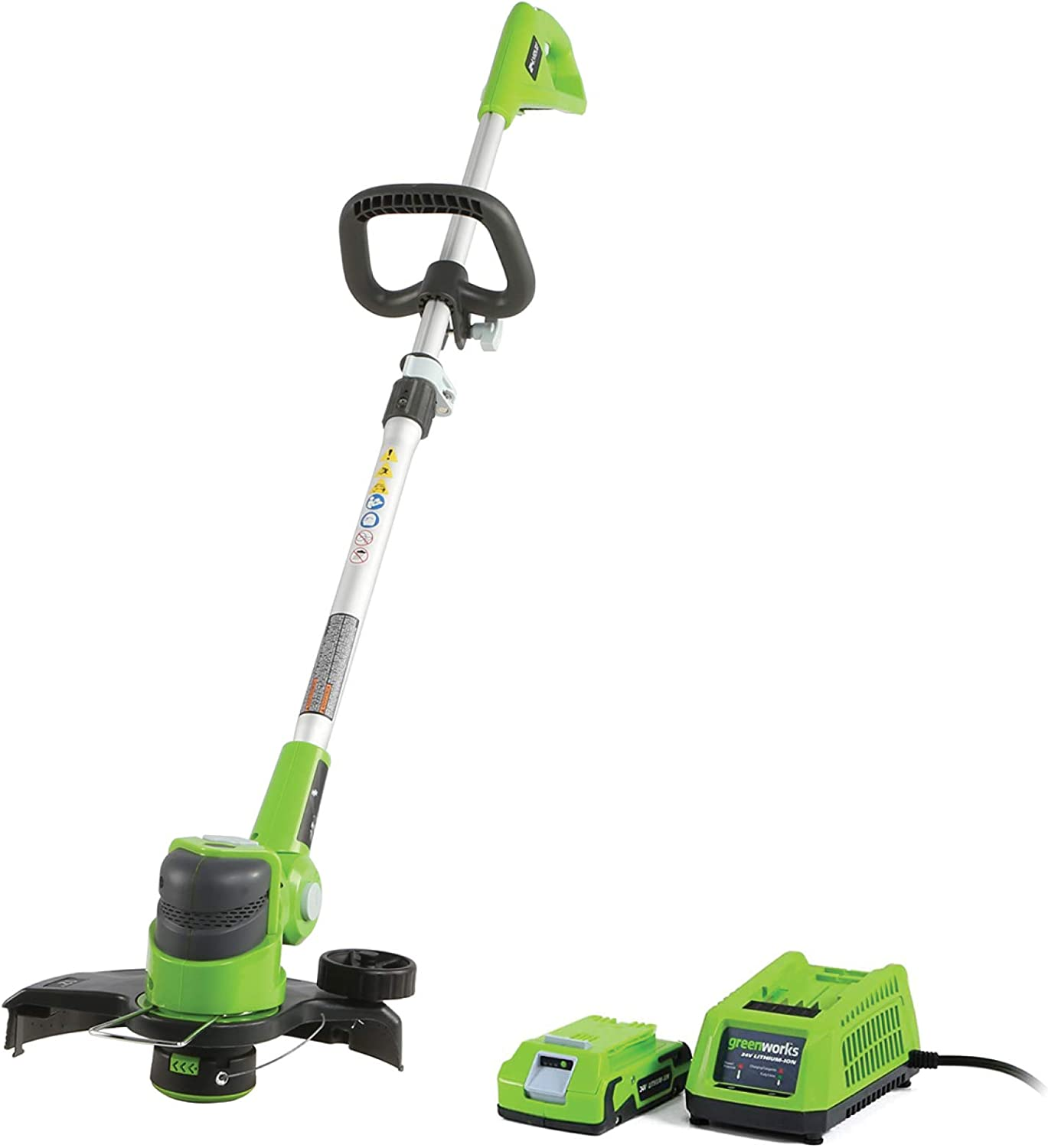 Greenworks 12-Inch 24V Cordless String Trimmer/Edger, 2.0 AH Battery Included 21342 : Garden & Outdoor
