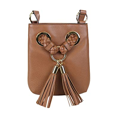 bf18cf1a1374 Amazon.com: Michael Kors Braided Grommet Large Leather Crossbody Luggage:  Shoes