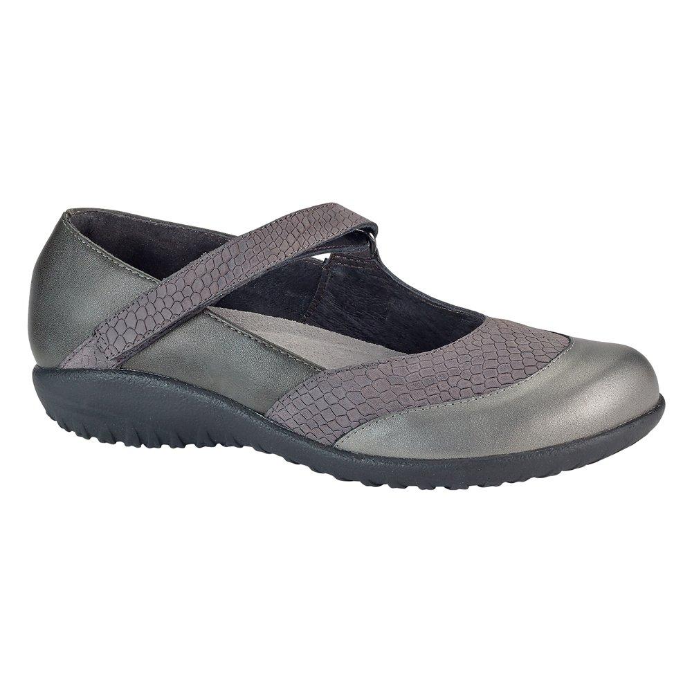 NAOT Women's LUGA Flats Shoes B019SPH9TM 7 B(M) US|Gray Iguana, Tin Gray, Sterling