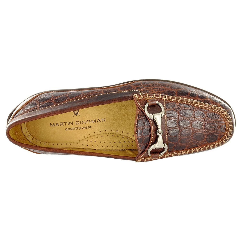 d7fd5e183e066 Amazon.com | Martin Dingman Men's Shoes Saxon Horse Bit Crocodile Print |  Shoes