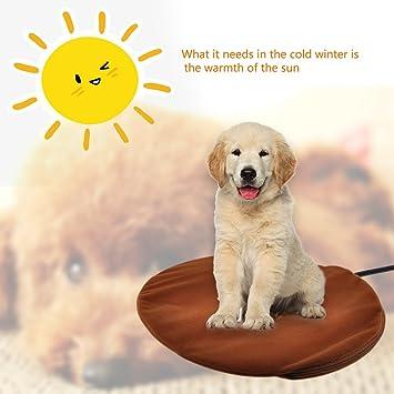 Cojin Calefactor Perro usb DEWEL Calefaccion Perros para Los Cachorros de Los Perritos/Gatitos Color de Café: Amazon.es: Productos para mascotas