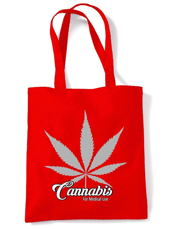 Cannabis For Medical Use Leaf Tote Shoulder Shopping Bag