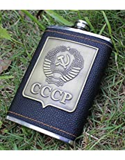 Patch_8 ounce outdoor hip flask Russian premium hip flask pu skin patch