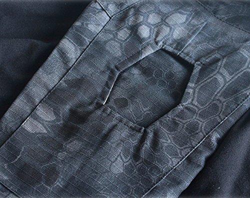 ShallGood T-shirt technique à manches longues pour homme - style militaire - idéal pour l'extérieur, le camouflage, la… 5