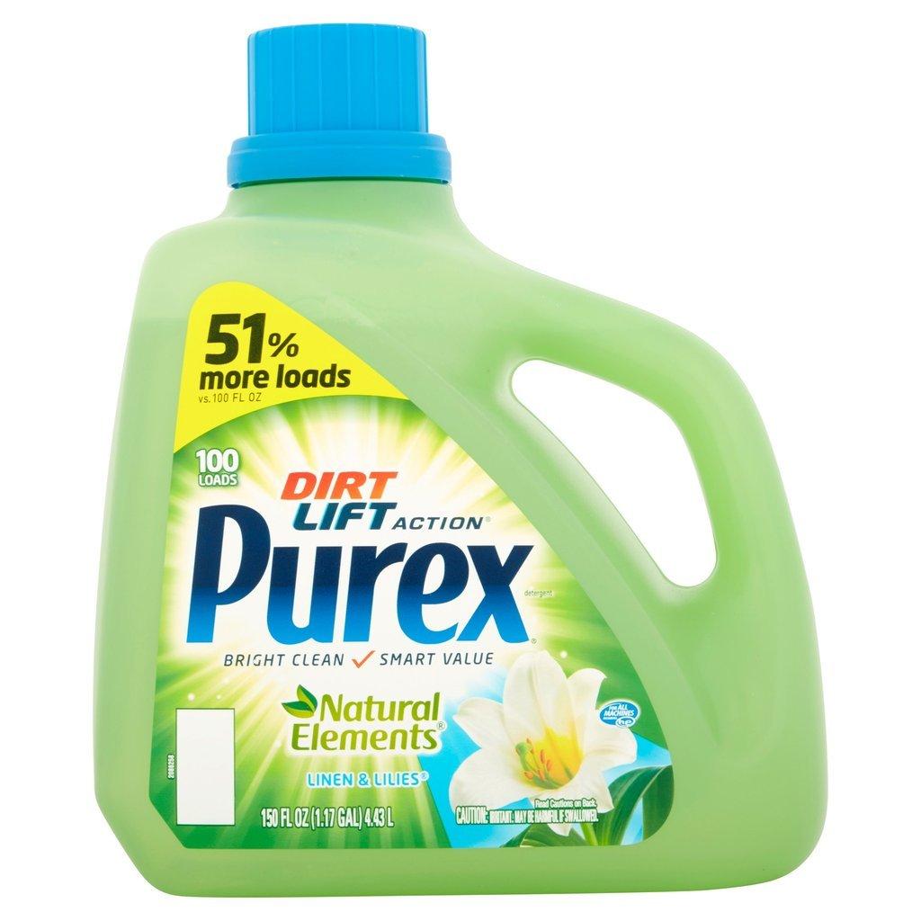 Purex Dirt Lift Action Natural Elements Linen & Lilies Detergent 100 Loads 150 oz (1)