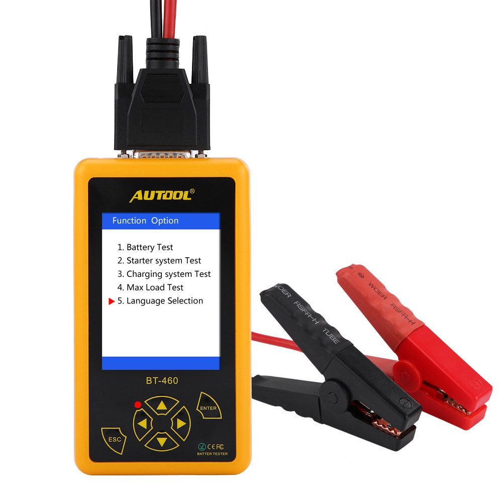 4 Inch Car Battery Tester Analyzer, Keenso Multi-function Battery Tester TFT Colorful Display Test Battery/Pneumatic System/Charging system/Maximum load for 12V Vehicle 24V Heavy Duty Trucks