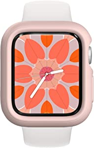 RhinoShield Bumper Case Compatible with Apple Watch Series 3/2 / 1 - [38mm] | Slim Protective Cover, Lightweight and Shock Absorbent - Blush Pink