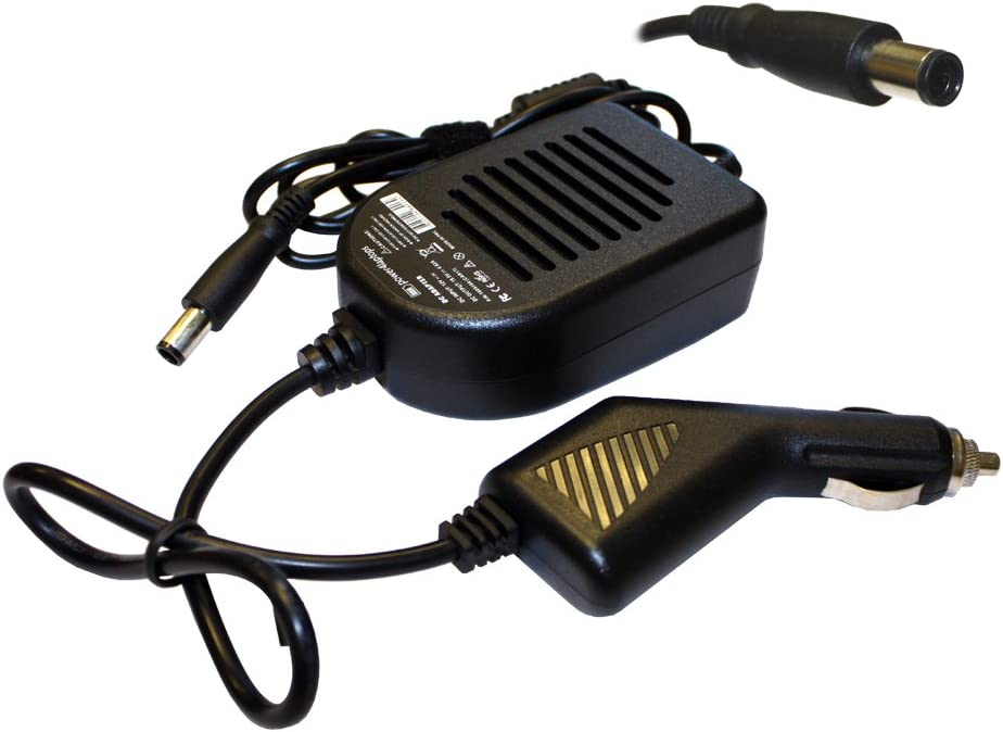 Power4Laptops DC Adapter Laptop Car Charger Compatible with Dell Latitude 14 Rugged 5414, Dell Latitude 14 Rugged Extreme 7414, Dell Latitude 15 5567, Dell Latitude 15 5580, Dell Latitude 15 5590