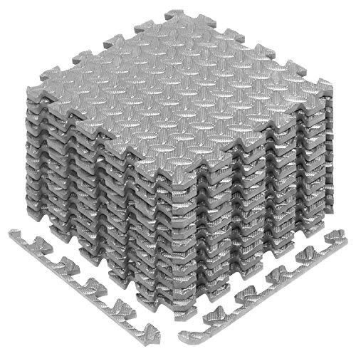 Yes4All Interlocking Exercise Foam Mats with Border – Interlocking Floor Mats for Gym Equipment – Eva Interlocking Floor…