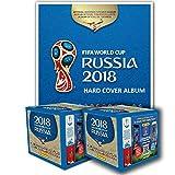 PANINI 2018 FIFA WORLD CUP RUSSIA HARD COVER ALBUM + 2 BOXES