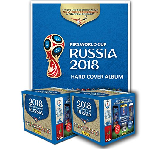 PANINI 2018 FIFA WORLD CUP RUSSIA HARD COVER ALBUM + 2 BOXES by Panini