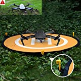 NIUTOP-Portable-Landing-Pad-for-RC-Drones-Helicopter-DJI-Mavic-Pro-Phantom-3-Phantom-4-Inspire-1-and-Quadcopters-30-75cm-DJI-Mavic-Pro-Not-Included