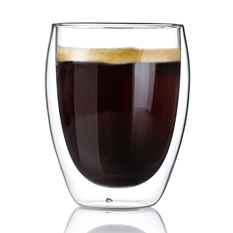 SWEESE – tazas de café vasos de doble pared con aislamiento con mango – 12,
