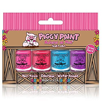 Amazon.com: Piggy Paint - 100% Non-toxic Girls Nail Polish, Safe ...