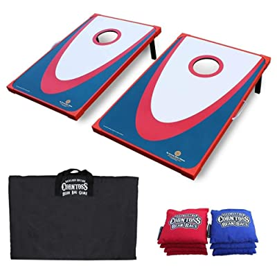 Driveway Games Backyard Edition Wood Corn Toss Game with Carry Bag: Sports & Outdoors