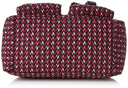 Defea Chevron Con 5x19 pink Maniglia Cm Donna Kipling Multicolore Borsa 33x24 HvdxWq