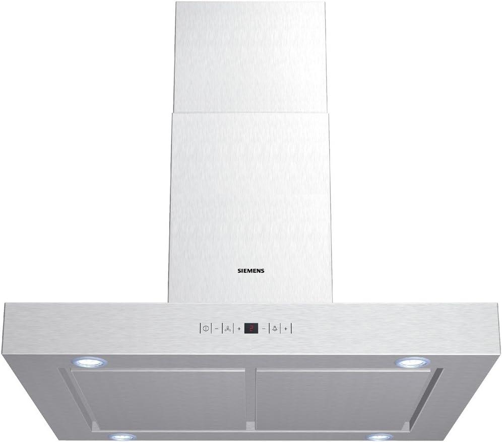 Siemens LC96950 - Campana (450 m³/h, Canalizado/Recirculación, 56 dB, De pared, Acero inoxidable, 20 W): 349.75: Amazon.es: Hogar