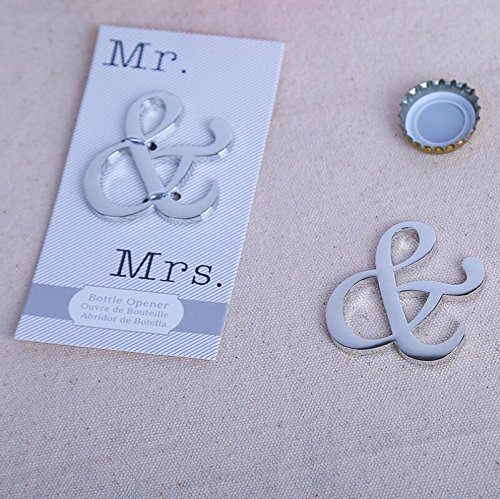 94pcs ''Mr. and Mrs.'' Ampersand Bottle Opener For Wedding Party Favor by cute rabbit (Image #1)