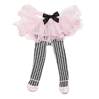 Ganz Multi Houndstooth Tights with Tutu Baby Apparel
