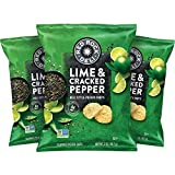 Red Rock Deli Style Potato Chips, Lime & Cracked Pepper, 2 Ounce (12 Count)