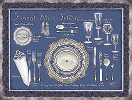 Cuisine - formal Place Vintage Cartel de chapa nostálgico ...