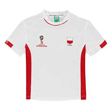 38e41628884 FIFA World Cup 2018 Poland T-Shirt Infants White Football Soccer Top Tee 2-