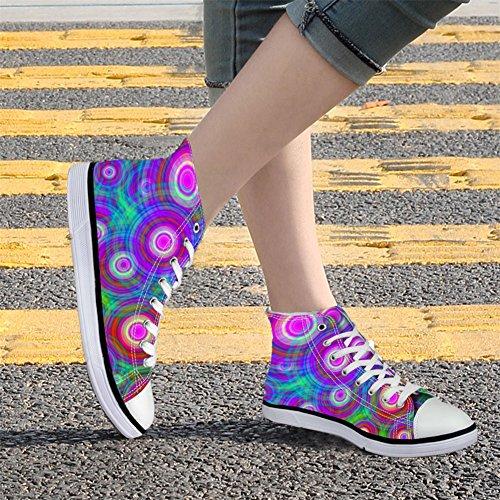 Abrazadelas Idea Colorful Fashion Mujeres High Top Zapatos De Lona Sport Sneakers Coloful 9