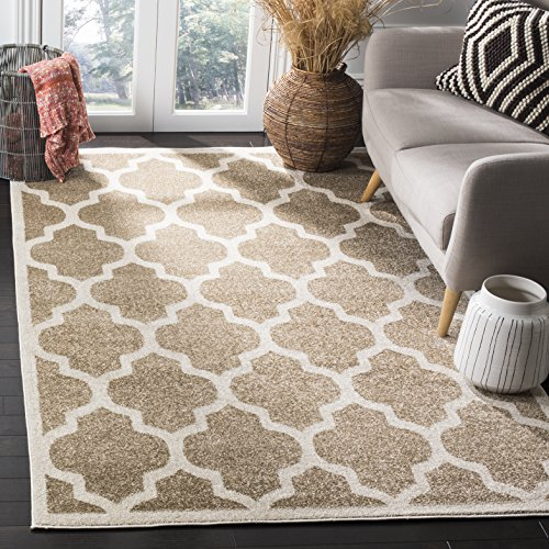 (Safavieh Amherst Collection AMTW420S Wheat and Beige Indoor/Outdoor Area Rug (5' x 8'))