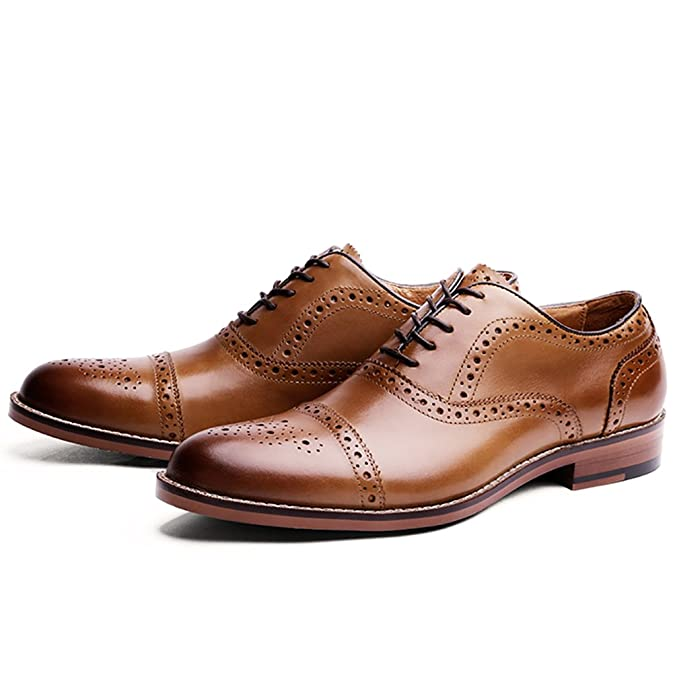 DESAI Scarpe Stringate Eleganti Oxford Brogue Uomo Nero Marrone  Amazon.it  Scarpe  e borse 2ae7f974e82