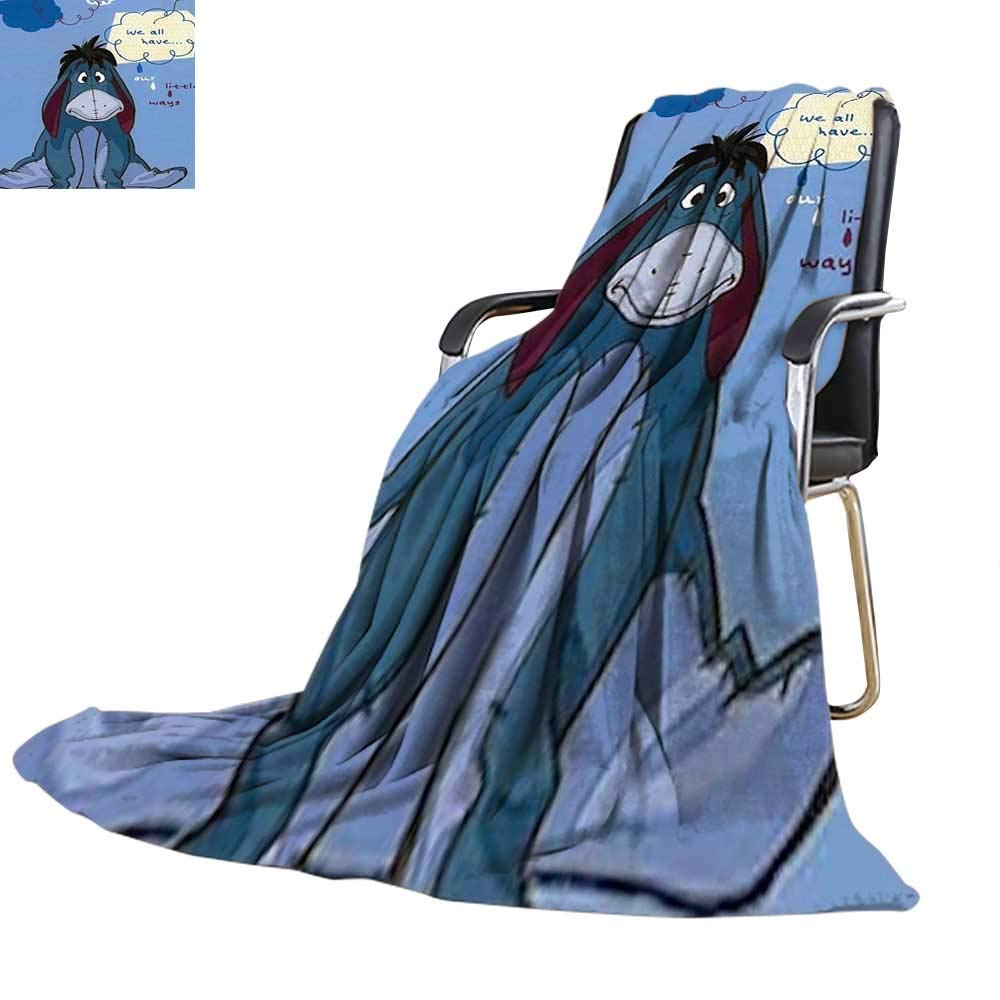 Printed Blanket,Winnie The Pooh Eeyore Our Little Ways Soft Throw 60'' x 80'',300GSM, Super Soft and Warm, Durable.
