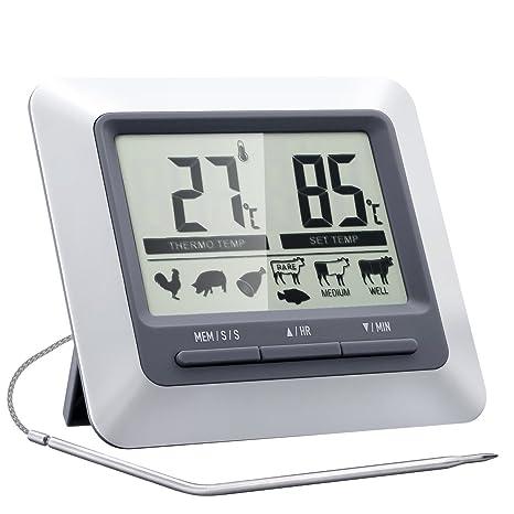 Termometro Sonda Professionale con Digitale Timer Cucina,Topop ...