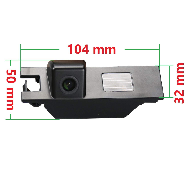 Color: Negro C/ámara de Aparcamiento de visi/ón Trasera HD 720p para monitores universales RCA para Opel Astra H J Corsa D Meriva A Vectra C Zafira B FIAT Grande Insignia