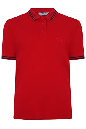 Yours Clothing - Polo - para hombre Rojo rosso Regular/XXXXL ...