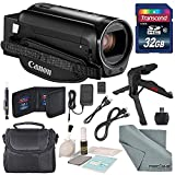 Canon Vixia HF R80 HD Camcorder Bundle with Table Tripod, Camcorder Case, 32GB SD Card, Cleaning Accessories, FiberTique Cleaning Cloth