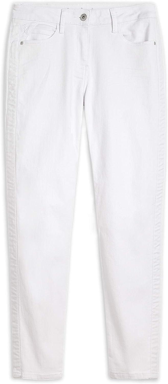 Sandwich Damen Skinny High Waist - Slim Fit Jeans mit Paspel Pure White
