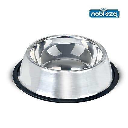 Comedero para perros Nobleza, de acero inoxidable, diámetro 30 cm