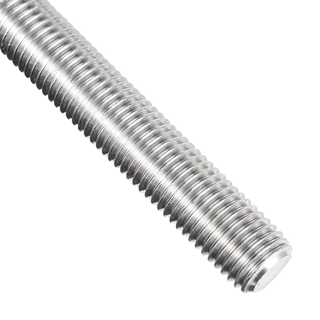 uxcell M16 Fully Threaded Rod, 304 Stainless Steel, 250mm Length, 2 0mm  Thread Pitch, Left Hand Threads