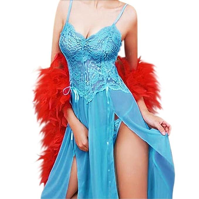 Longra Set de lencería de Bordar Señora Imprimir Perspectiva Lure Pijamas Mujer Ropa Interior (S