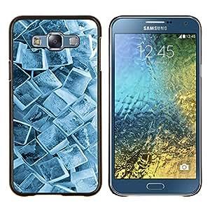 EJOOY---Cubierta de la caja de protección para la piel dura ** Samsung Galaxy E7 E700 ** --Cristales Ice Cube Pattern Invierno Nieve fresca