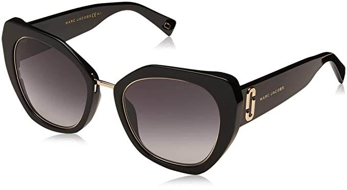 good out x latest fashion delicate colors Marc Jacobs sunglasses (MARC 313 S 8079O) Black Shiny Gold Light ...