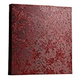Xerhnan Leather Cover Photo Album 600 Pockets Hold 4x6 Photos.(Grape flower)