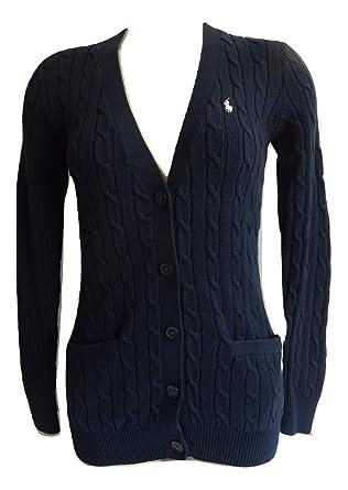 the best attitude 5c4d3 d9180 Ralph Lauren Damen Strickjacke - Cardigan: Amazon.de: Bekleidung