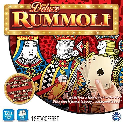 TCG Toys Deluxe Rummoli Game w. Board (20 X 20) - If You Like Poker Or Rummy...You'll Love Rummoli, Multicolor