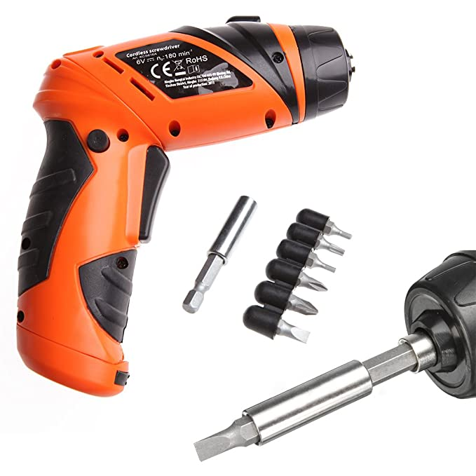 Amazon.com: Misright Durable Mini Portable 6V Screwdriver Electric ...